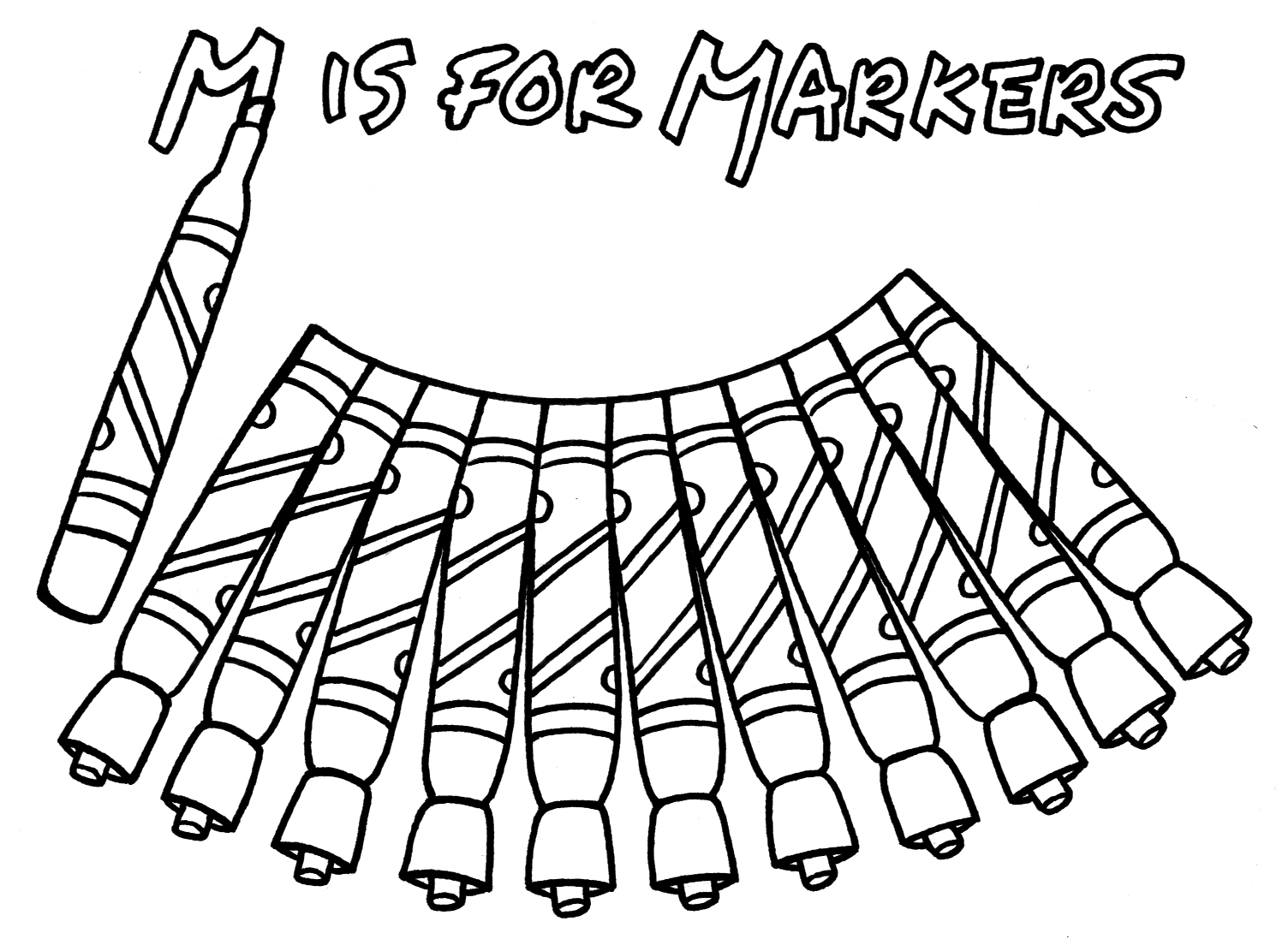 Marker Free Colouring Pages