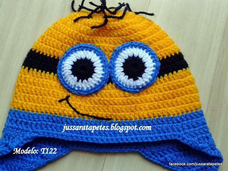 Tapete Minions De Croche : Jussara tapetes: Touca de croch? Minion – T122