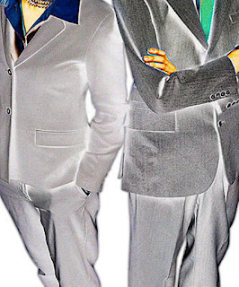 business man and woman standing