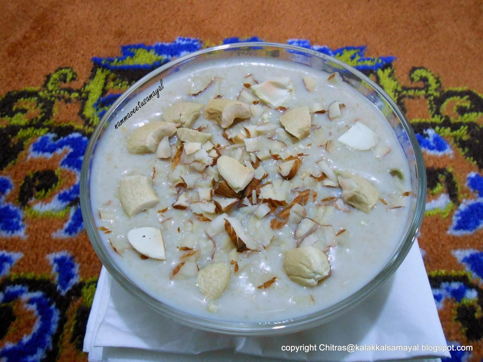 Thinai Paal Payasam 2 [ Foxtail millet Payasam 2 ]