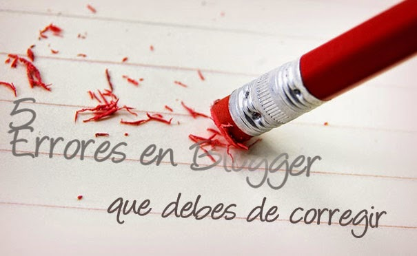 errores en blogger