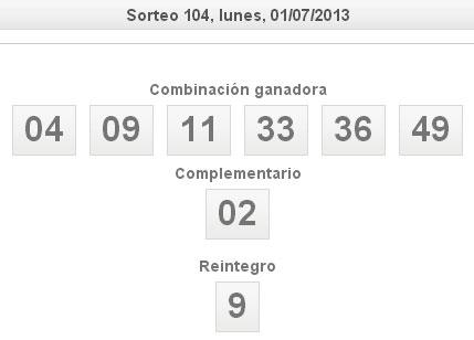 Bonoloto 1 de julio