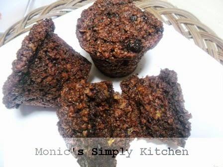 muffin coklat oatmeal pisang kismis