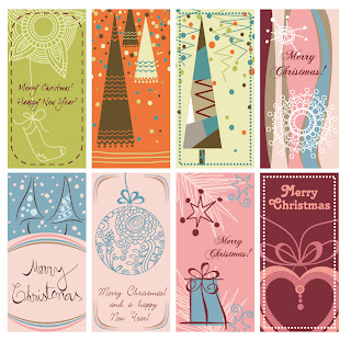 クリスマスを愛らしく表現した背景 lovely christmas background vector graphic イラスト素材2