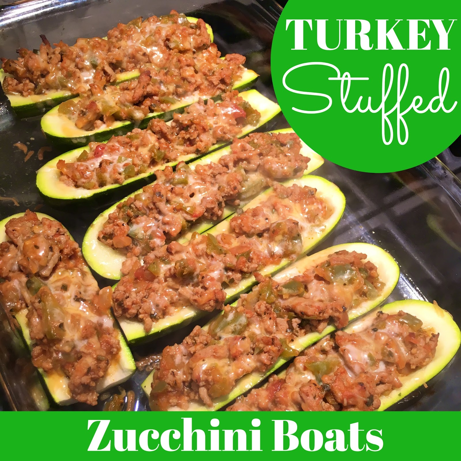 The Healthy RN Turkey Stuffed Zucchini Boats