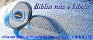 Bíblia não é bibelô