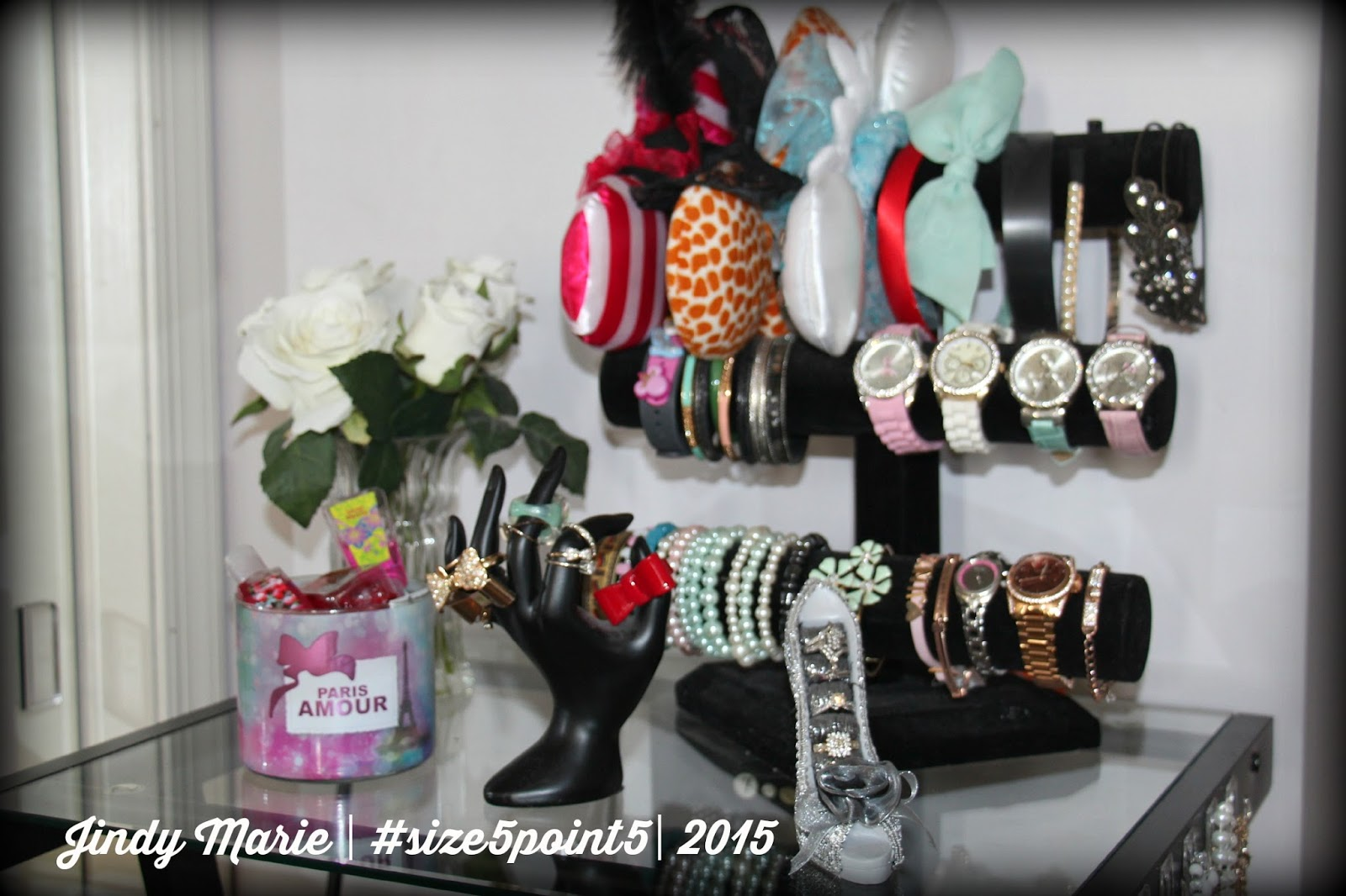 How I Organize my Perfumes Lotions and Jewelry January 5th