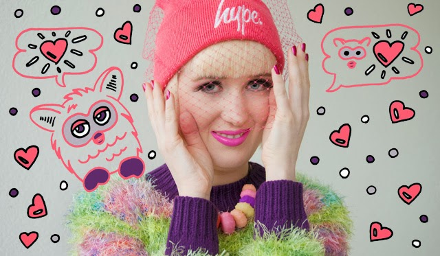 furby jumper, unif, katy perry, hype beanie