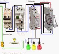Como funciona contactor reloj horario para luminarias
