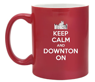 Keep Calm And Carry On Downton Abbey Mug