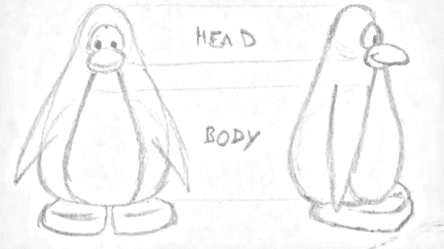 Early Penguin Sketch :)