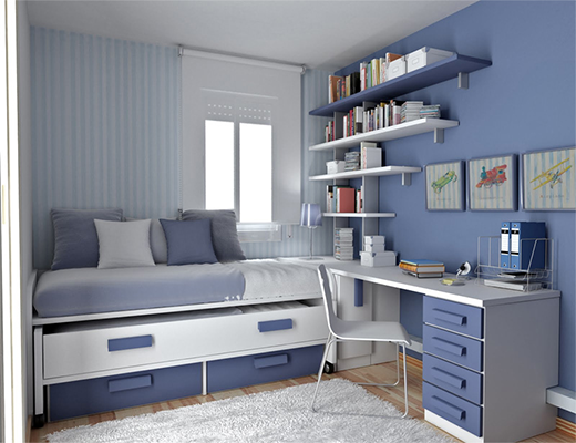 room idea, very small rooms