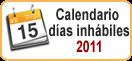 Calendario días inhábiles 2013