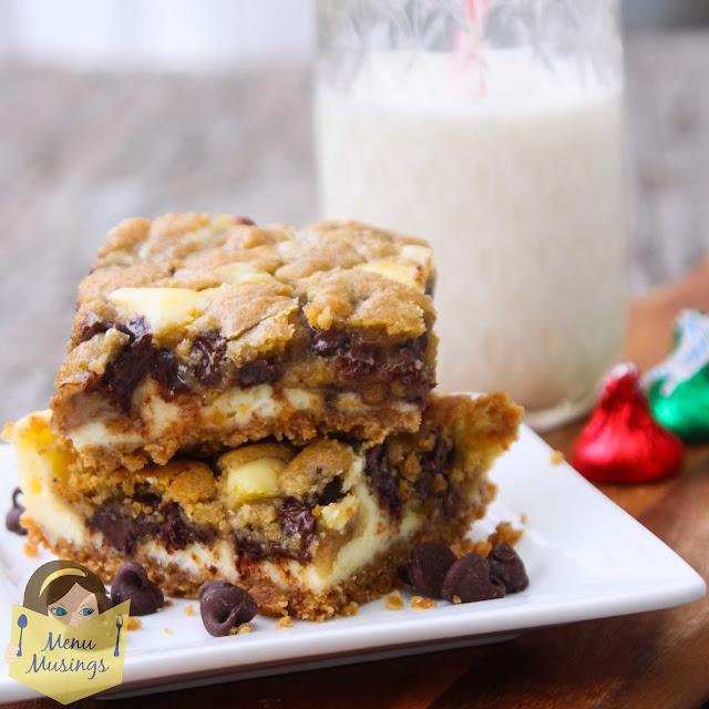 Menu Musings of a Modern American Mom: Cookie Dough Cheesecake Bars