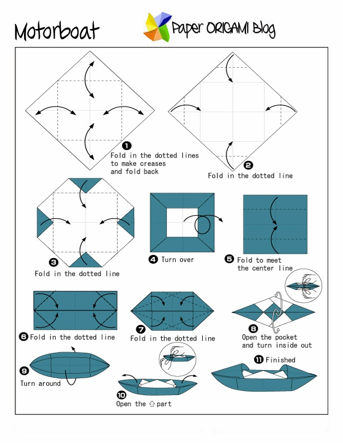 origami paper boat instructions