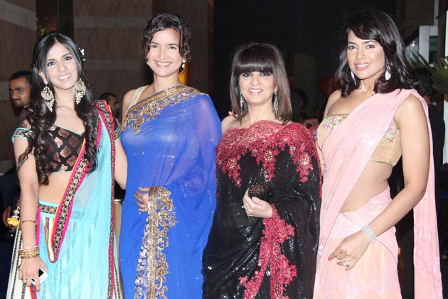 1 - Sameera and Sushma reddy at Vashu Bhagnani's daughter Honey Bhagnani's sangeet