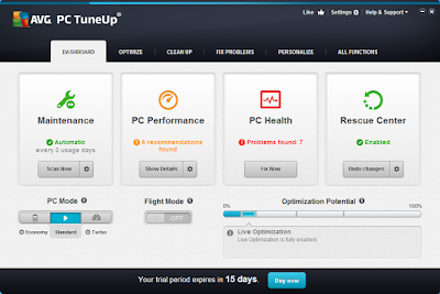 AVG PC TUNEUP 2015 + SERIAL OTIMIZADOR
