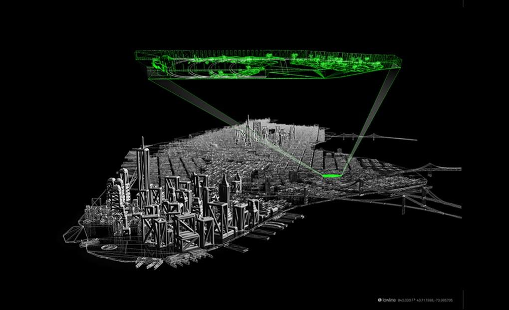 Parque subterrâneo com luz solar - Lowline em NYC