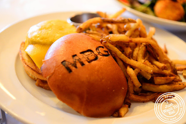 Image of the Burger at the Madison Bar and Grill in Hoboken, NJ