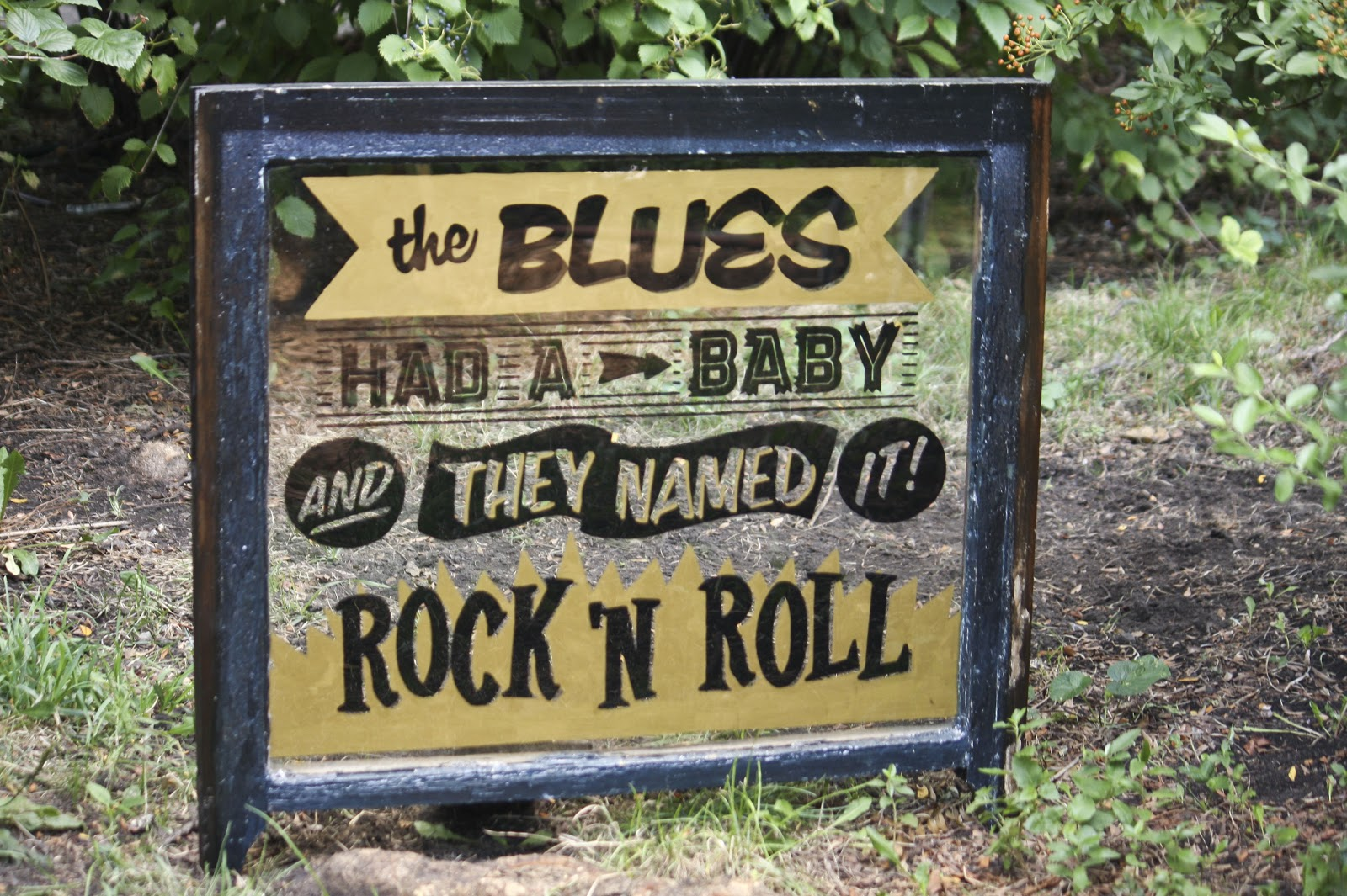 Signs by bean the blues had a baby and they named it rock