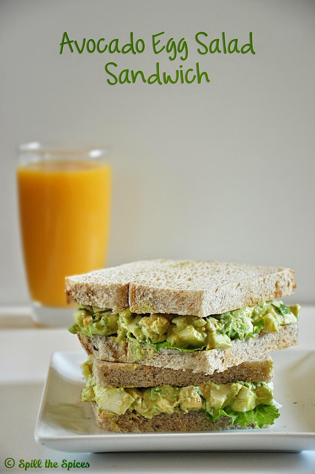 Healthy Avocado Sandwich Avocado Egg Salad Sandwich