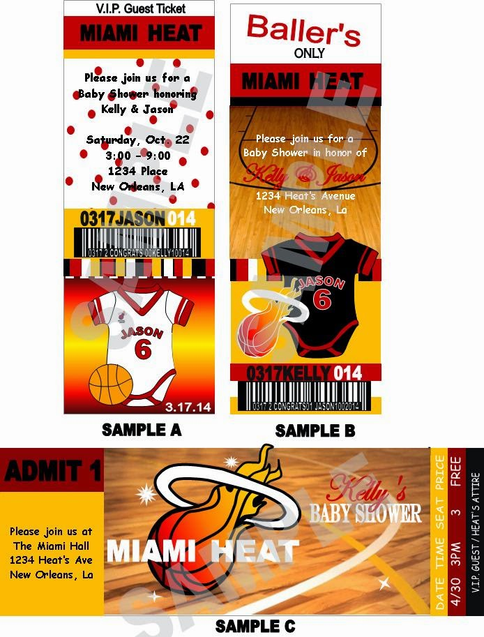 Baby Shower Favors Miami ~ Solutions event design by kelly miami heat theme baby