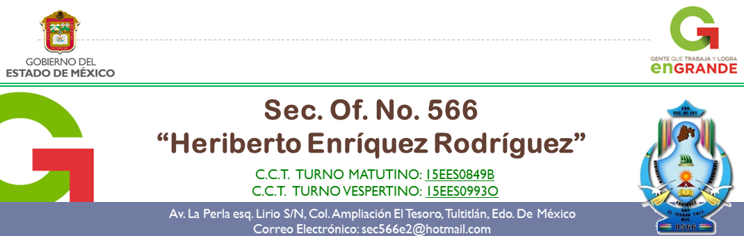 "Secundaria Oficial No. 566 ""Heriberto Enríquez Rodríguez"""