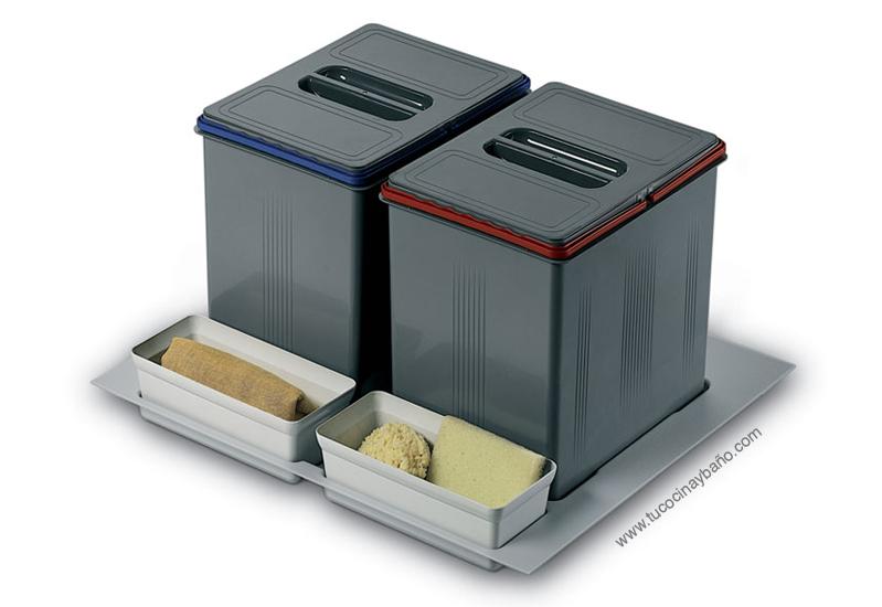 Cubo basura cajon gavetero tu cocina y ba o - Cubos de basura extraibles ...