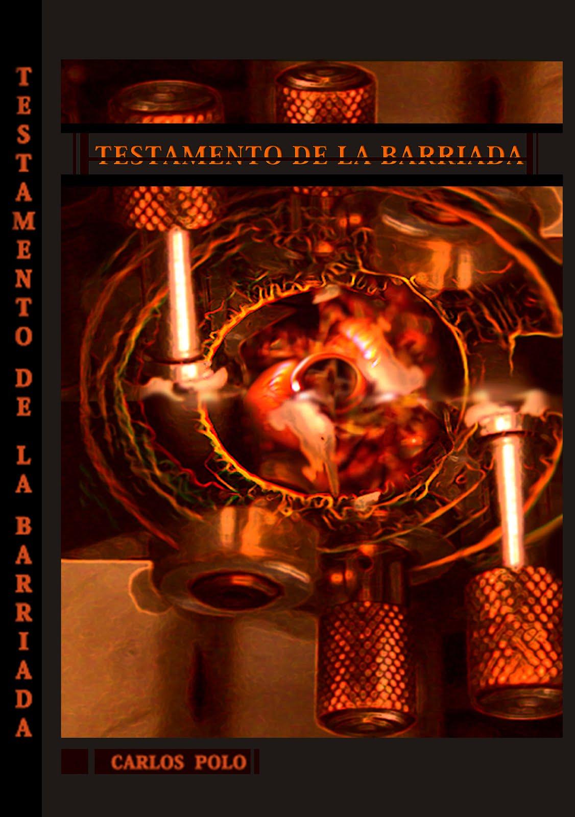 """Portada libro """"Testamento de la barriada"""""""