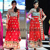 Embroidery Long Salwar Suit in Red