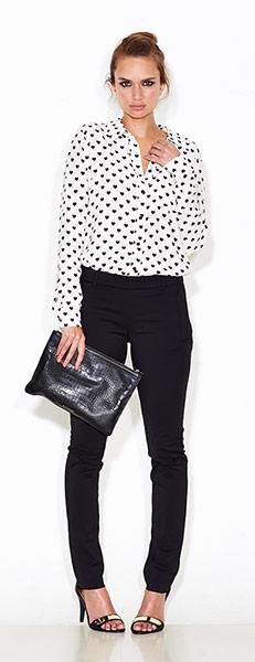 Heart print blouse