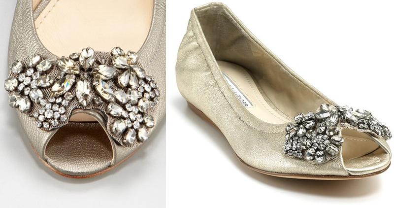 Shine Trim Wedding DIY Inspiration Rhinestone Ballerina Flats