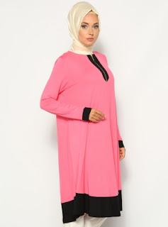Baju tunic model terbaru busana muslim modis masa kini