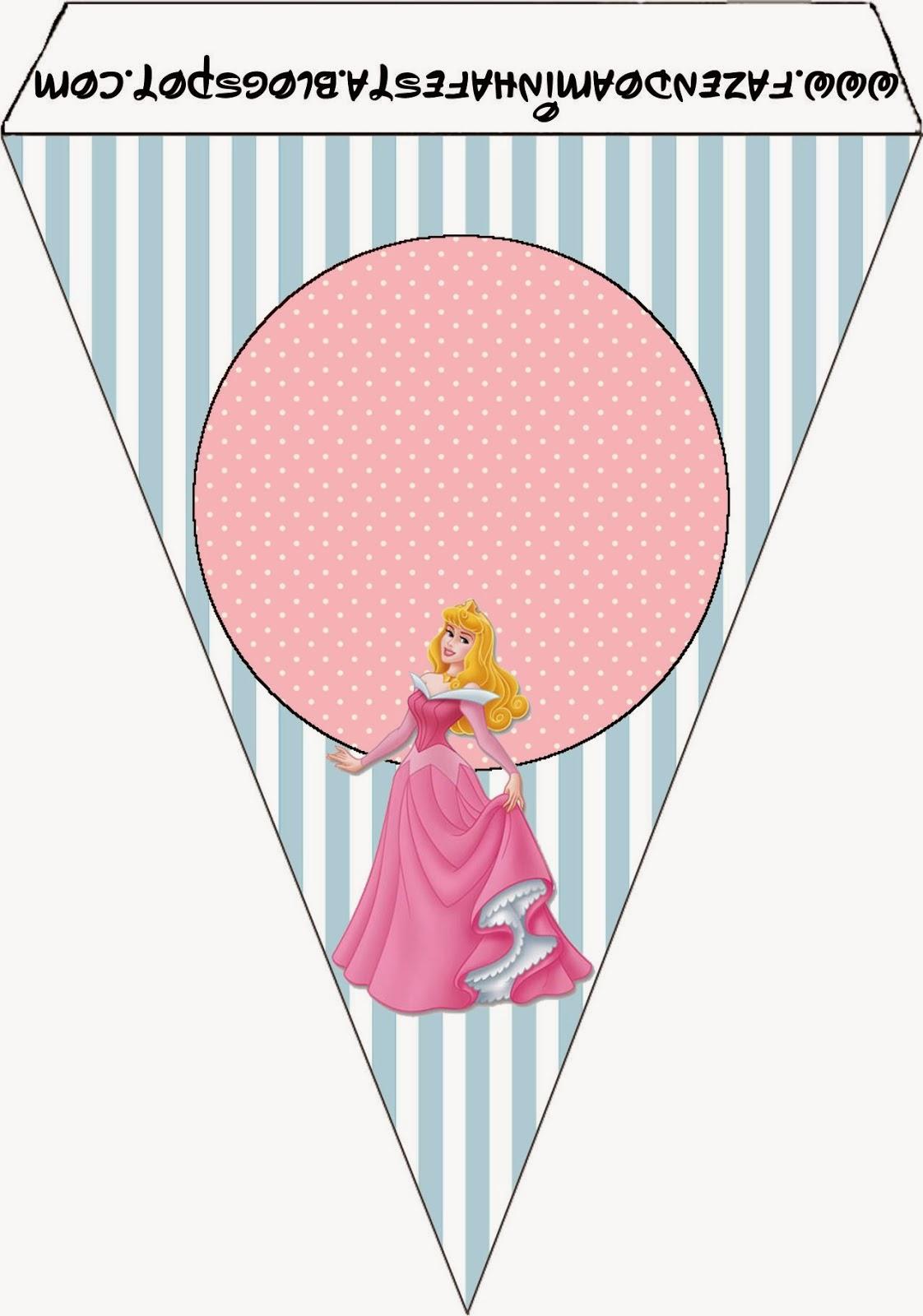 Para banderines de Fiestas de la Bella Durmiente.