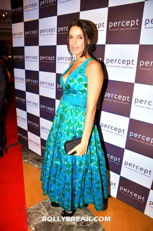 Neha Dhupia in blue Anita Dongre dres   - Neha Dhupia, Mandira Bedi and other HOTTIES !