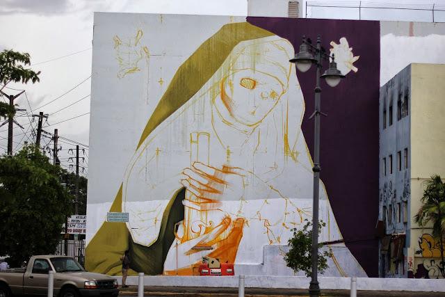 Work In Progress By Chilean Artist INTI For Los Muros Hablan '13 In Puerto Rico. 1