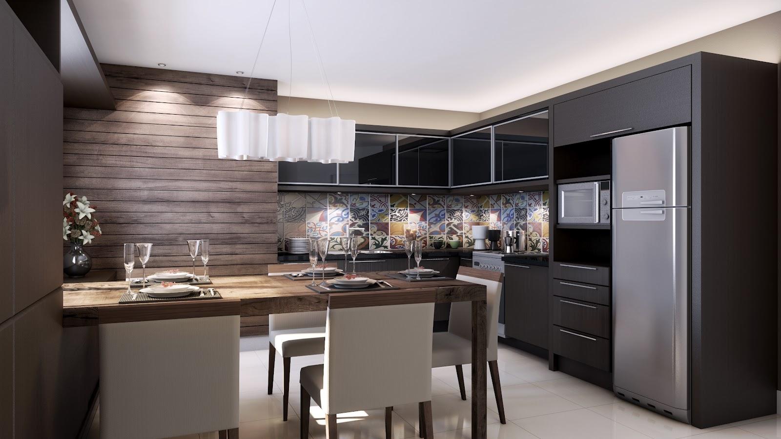 24 12 29 Cozinha Preta Em MDF Bancadas Cinza O Que Deixou A Super #7C644F 1600x900