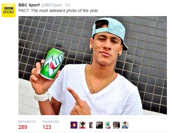 @BBCSporf, Twitter, funny, memes, Neymar, Brazil, Germany, World Cup 2014, 7-1, 7up,