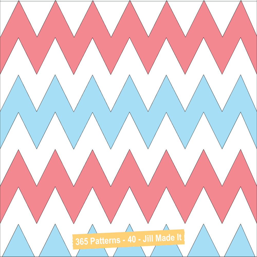 Easter Patterns:  Easter Chevrons | Jill Made It