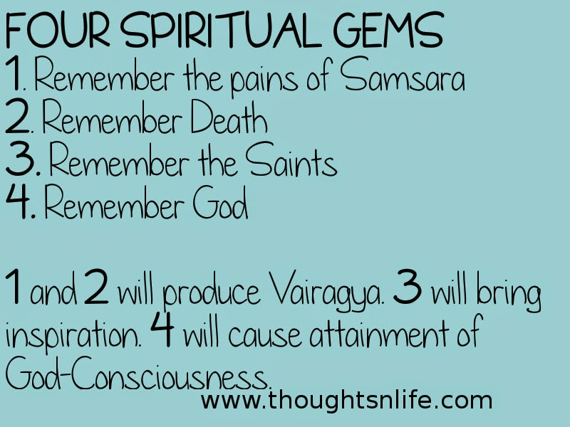 Thoughtsnlife:FOUR SPIRITUAL GEMS