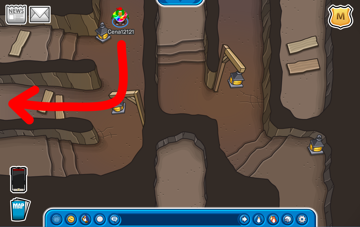 Club Penguin Cave Maze walkthrough cheats