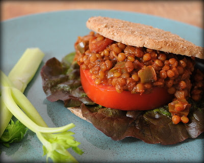 Slow Cooker Vegetarian Lentil Sloppy Joes