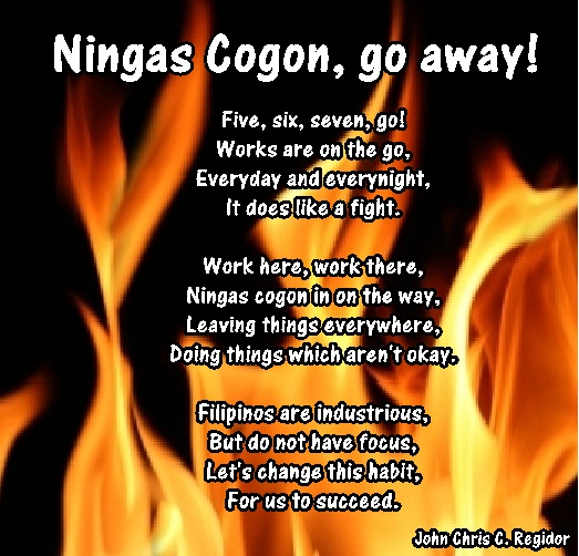 """ningas cogon Senator koko pimentel iii on wednesday said government agencies with jurisdiction over traffic """"should implement"""" all laws relating to motorcycle safety the senate president also assailed the apparent culture of """"ningas-cogon"""" among enforcers """"sometimes a law is passed, enforced ."""