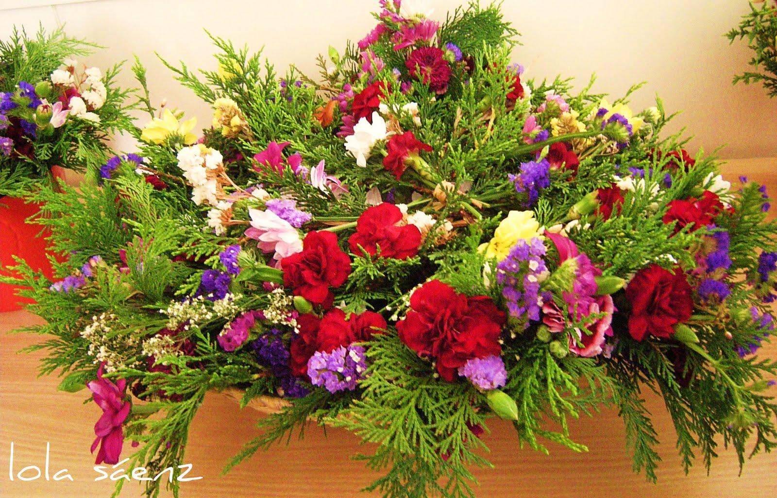 Ramilletes de flores para los alumnos de la cepa de sopelana