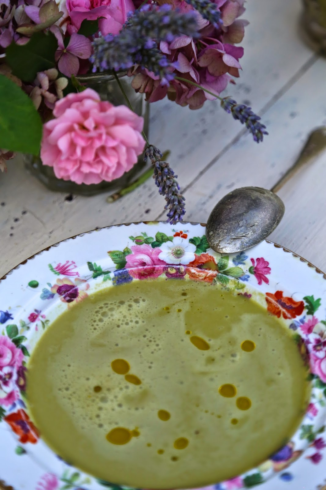 Lovage and sorrel soup