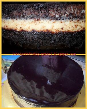 Kek Coklat Moist inti Krim Keju