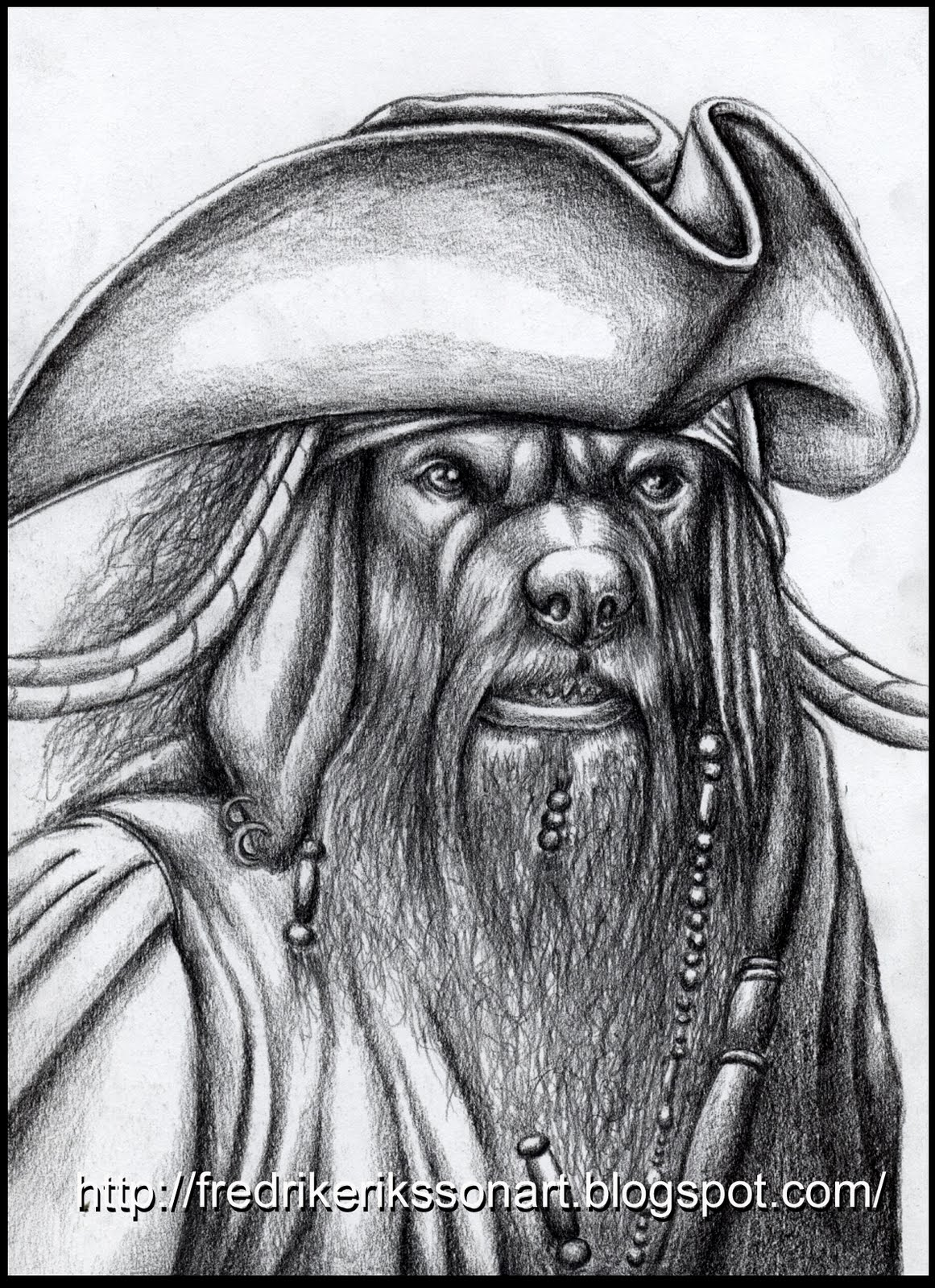 Art Of Fredrik Eriksson The Old Sea Dog Black Beard