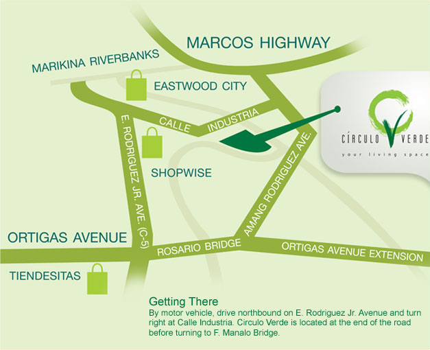 Location of Circulo Verde, Condominium in Pasig