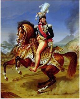 Joachim Murat Rey de Napoles. Mariscal con Napoleón. Estaba loco por las pieles