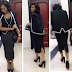 Genevieve Nnaji stuns in black cape dress